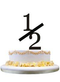Toalla de pastel de estilo rústico Topper con decoración número 1/2