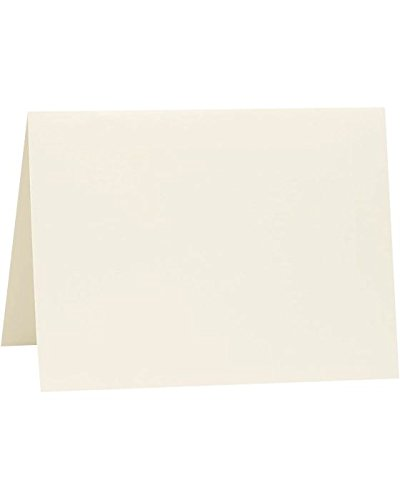 A6 Folded Notecards (4 5/8 x 6 1/4) - Savoy - Natural White (1000 Qty.)