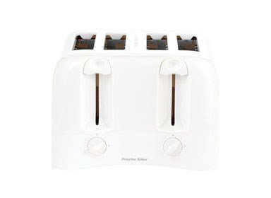 Proctor Silex 24605 4-Slice Toaster (4 Slice White Toaster)