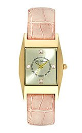 Ted Baker Women's TE2107 Modern Gold Case Silver Dial Pink Strap Watch