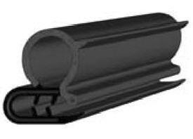 15 Feet Trim seal rubber for doors oversize bulb 43//64 Bulb diameter x 0.039-15//64 grip range x 15//16 U Heigh