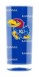 Kansas Jayhawks Tumbler - Square Insulated (16oz) - Kansas 16 Ounce Tumbler