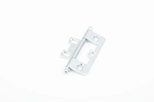 Ball Tip Non-Mortise Hinge, Polished Chrome(SCH1100B-26)