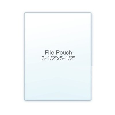 7 Mil. Indexex Size lamination Pouch Letter Size Clear (3 1/2'' X 5 1/2'') 100 Pcs