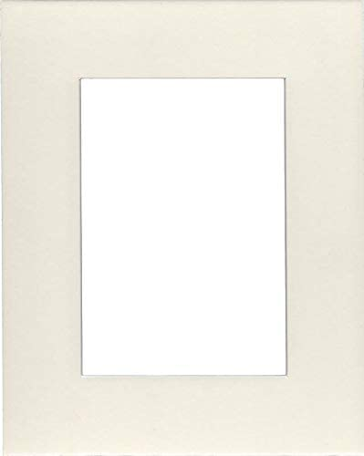 5x7 Acid Free White Core Picture Mats Cut for 4x6 Pictures in Cream 5 Pack of