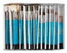 Royal Brush Economy Sable Ceramic Handle Paint Brush Classroom Pack, Assorted Size, Blue, Pack of 72
