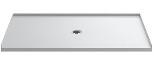 Shower Kohler Pans (KOHLER 1938-0 Ballast Shower Base with Center Drain, 66-Inch x 36-Inch)