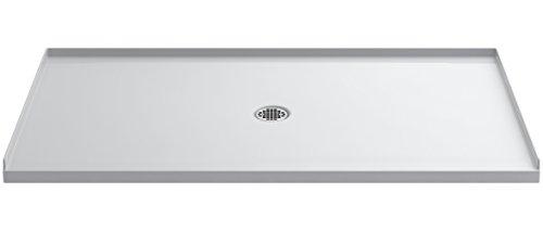 Pans Shower Kohler (KOHLER 1938-0 Ballast Shower Base with Center Drain, 66-Inch x 36-Inch)