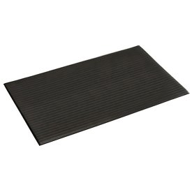 (Apache Mills Ribbed Surface Mat, 4 Foot Wide 60 Foot Roll Black)