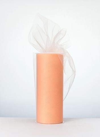 OOKI 6 Inch x 100 Yards (300 FT) Fabric Tulle Bolt for Wedding and Decoration ()