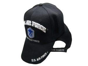 TOPW Air Force MSGT Retired Black USAF Embroidered Ball Cap Hat CAP540B U.S
