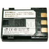 1700mAh NB-2L/NB-2LH Replacement Battery for Canon S50, S60, S70, S80, G7, G9, Rebel XT, XTi, HV20/30, DC310/320/330, Optura 30/40/50/60/400/500, Elura 40MC/50/60/65/70/80/85/90, ZR100/200/300/400/500/600/700/800/830/850/900/930/950 - Japanese Cells