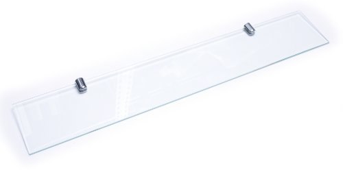 Glasregal, 6 mm dickes, gehärtetes Glas, Halterung mit Chrom-Finish, 400 x 100mm