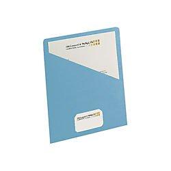 Smead Slash Jacket, Letter Size, Blue, 25 per Pack (75431)