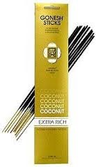 Gonesh Incense Sticks Extra Rich Collection: Coconut 12 Pack (20 Sticks/pack) - incensecentral.us