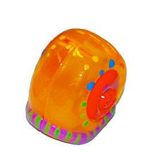 XiaXia Pets Hermit Crab Shell Orange with Festive Design