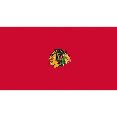 Imperial Officially Licensed NHL Merchandise: 8-Foot Billiard/Pool Table Cloth, Chicago Blackhawks - Logo Billiard Cloth