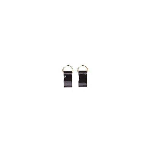 Fullspot O Pocket 2 Chiusure Clip in Pelle (NERO/ORO)