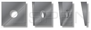 TypeA Cast Iron ID=7//16 600 pcs Square Beveled Malleable Washers Plain OD=1-1//4 3//8 THK=0.23