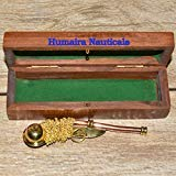 Nautical Maritime Brass/Copper Boatswain Whistle~Bosun Call Pipe~with Wood ()