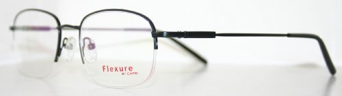 Flexible Fx6 Black Men's Titanium Optical Eyeglass Frame by FLEXURE by - Eyeglass Online Shopping
