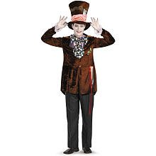 Disguise Men's Mad Hatter Deluxe (Movie),Multi,M (38-40) Costume (Men Mad Hatter Costume)