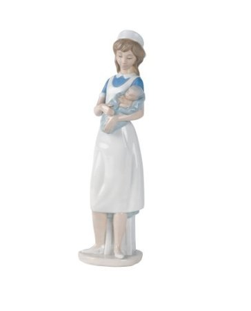 "Nao by Lladro Collectible Porcelain Figurine: Female NURSE - 13-1/4"" tall - Hospital / Medical"