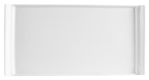 (CAC China DYN-14 Dynasty 13-Inch by 6-1/2-Inch Super White Porcelain Rectangular Platter, Box of 12)