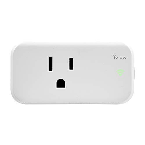 iView-ISC100 Smart WiFi Plug, Mini Smart Socket, Free APP Remote Control From Anywhere, Built-in WiFi, No Hub Required, Compatible with Alexa