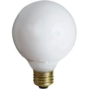 Bulb,40w Globe G-25,White (Pack of 6) - 40w Incandescent Globe