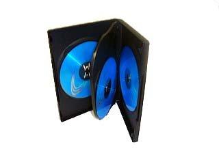 10 estuches negros para DVD/CD/Bluray con 4 bandejas, marca Indigo