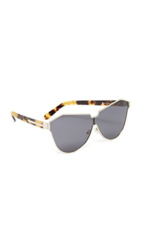 Karen Walker Women's Cosmonaut Sunglasses, Gold/Smoke Mono, One - Sunglasses Karen Walker Oversized