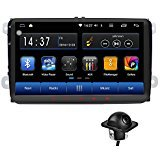 Android 6.0 Car Radio Stereo 9″ Double DIN Capacitive Touchscreen High Definition 1024×600 GPS Navigation Bluetooth USB Player 1G DDR3 + 16G NAND Memory Flash for VW Passat Golf MK5 MK6 Jetta+camera Review