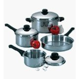 Regalware Food Service Lodging Economy 7-piece Stainless Steel Cookware Set with Stainless Covers