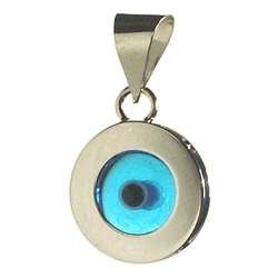 Amazon 14k white gold evil eye pendant home kitchen 14k white gold evil eye pendant aloadofball Image collections