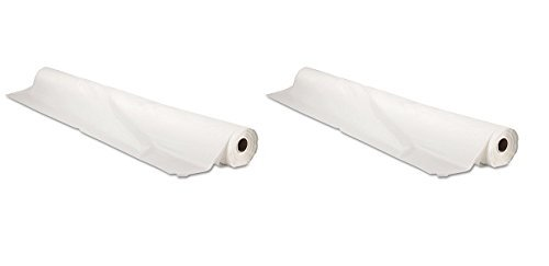Tablemate BIO1403WH Bio-Degradable Plastic Table Cover, 40'' x 300ft, White (2-(Pack))