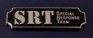 SRT Special Response Team Silver on Black Award Bar Uniform Pin (Police/Sheriff) ONLY by HighQ Store by HighQ Store