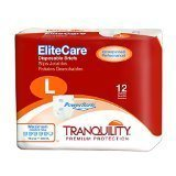 Tranquility EliteCare Briefs, Large, Bag of 12 by Tranquility EliteCare