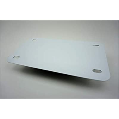 White - Motorcycle Anodized Aluminum License Plate Blank - 0.025/0.5mm - 4x7: Automotive