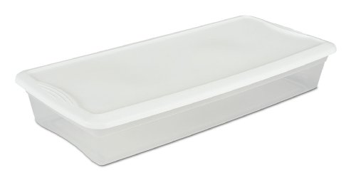 Sterilite 19608006 41 Quart/39 Liter Underbed Storage Box...