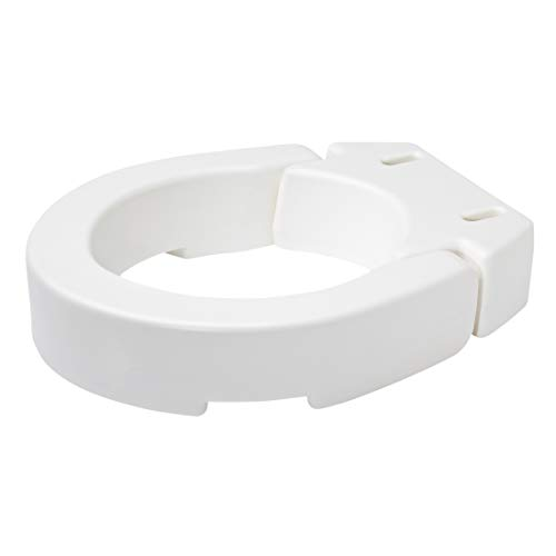 Round Hinged Base (Carex Hinged Toilet Seat Riser, Adds 3.5 Inches of Height to Toilet, 300 Pound Weight Capacity, Hinged for Easy Cleaning)