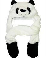 Outer Rebel Fashion Animal Hats- Panda with Attached Mittens