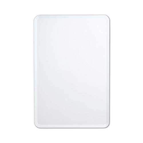Better Bevel Frameless Wall Mirror | Rectangle with Rounded Corners | Bathroom, -