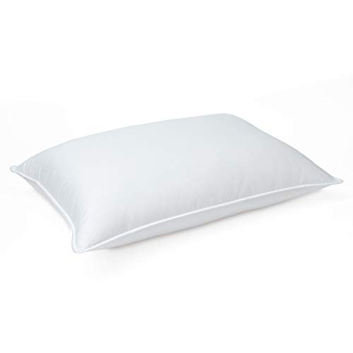 DOWNLITE Manufacturer Special - Luxury Soft Hypoallergenic Grey Goose Down Pillow - 400 TC Pima Cotton Shell - Made In The USA - Great Deal