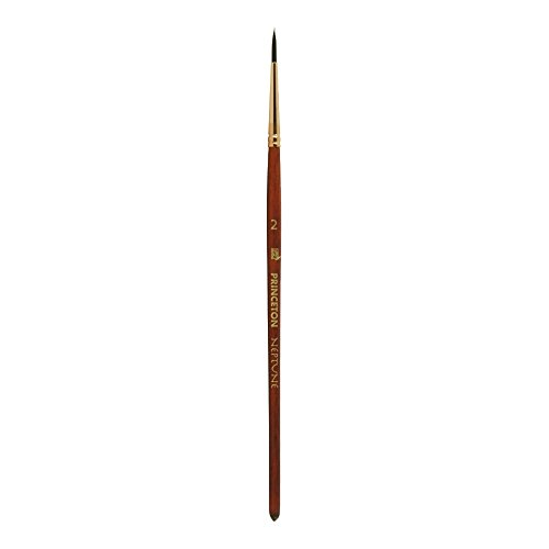 Princeton Artist Brush Neptune, Brushes for Watercolor Series 4750, Round Synthetic Squirrel, Size 2