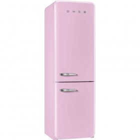 (Smeg 50s Retro-Style Right-Hand Hinge Pink Bottom Freezer 11.7 Cu.Ft. Refrigerator)