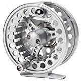 Croch Fly Fishing Reel with CNC-machined Aluminum Alloy Body 3/4 Silver