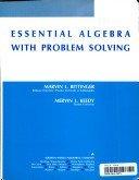 Essential Algebra With Problem Solving