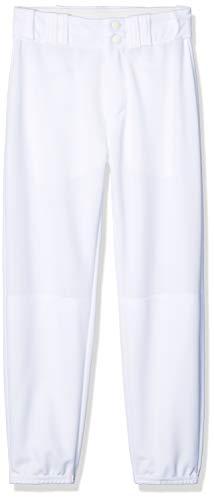 Alleson Ahtletic Womens Fast Pitch Softball Belt Loop Pants, White, Medium