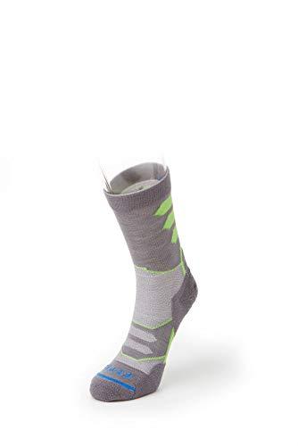 - FITS Micro Light Runner - Mini-Crew Socks, Titanium, Large